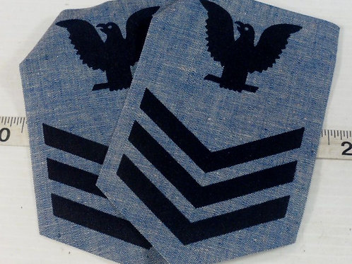 Set of 2 Military Patches Blue