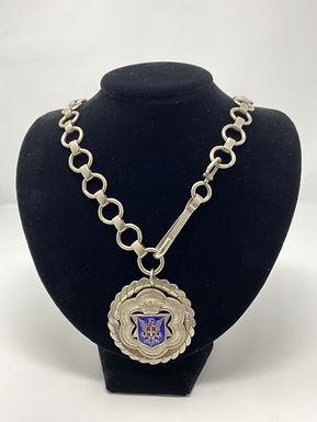 Vintage Medallion Chain Necklace