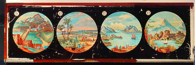 Magic Lantern Glass Colored Slides