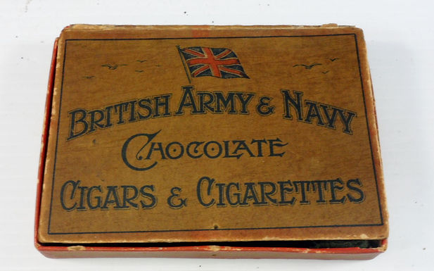"Chocolate Cigars & Cigarettes Box ""British Army & Navy"""