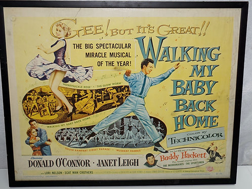 """""""Walking My Baby Back Home"""" 1953 Movie Poster"""