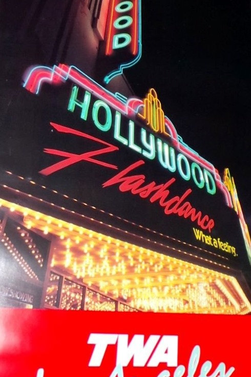 TWA Los Angeles Poster Hollywood Flashdance