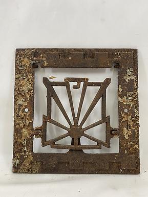 Art Deco Cast Iron Grate