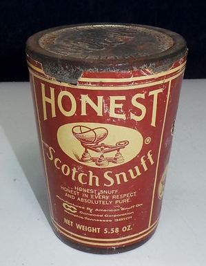 Honest Scotch Snuff Tin