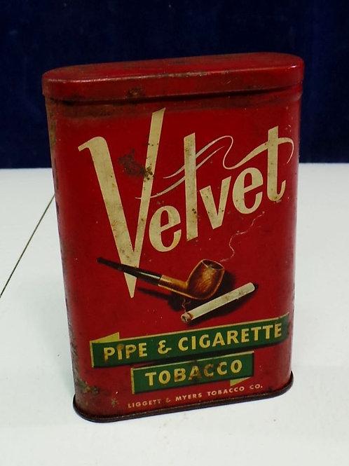 Velvet Pipe And Cigarette Tin