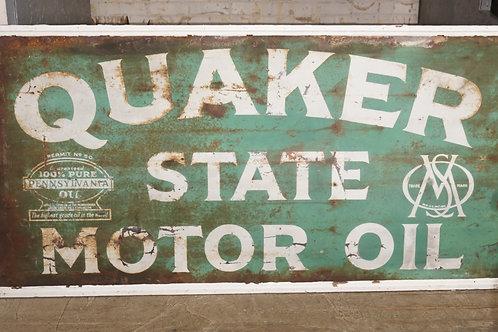1940s Quaker State Motor Oil Sign