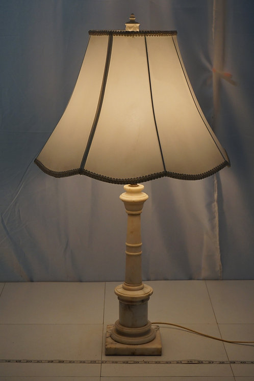 1940s Carved Marble Table Lamp
