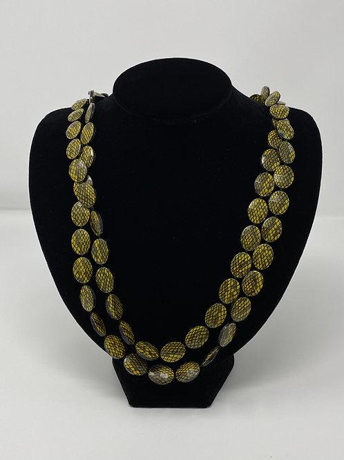 Flapper Style Snake Skin Design Plastic Beads