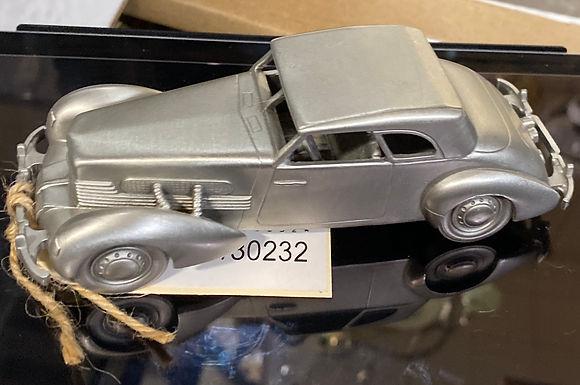 """1937 Cord 812"" Pewter Model Car"