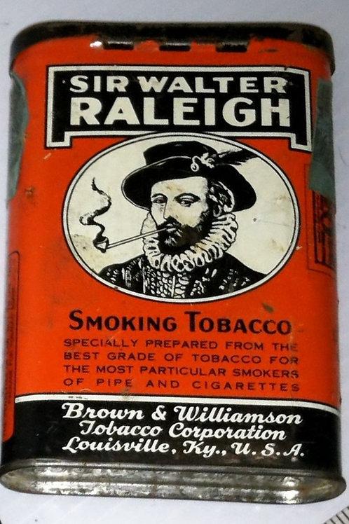 """""""Sir Walter Raleigh"""" Smoking Tobacco Tin"""