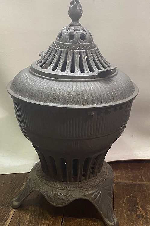 1896 Omega Cast Iron Heat Stove with Finial