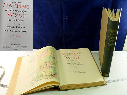 2 Books Of 1540-1861 Mapping The Transmississippi West Book By Carl I Wheat