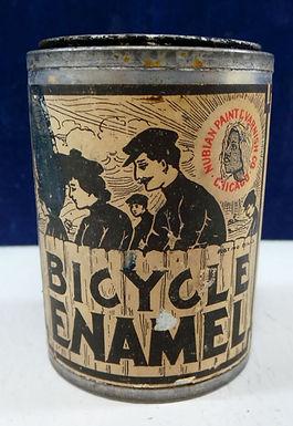Bicycle Enamel Tin