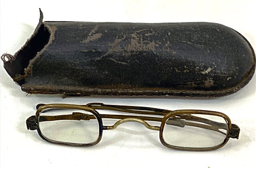 1800s Adjustable Glasses with Case