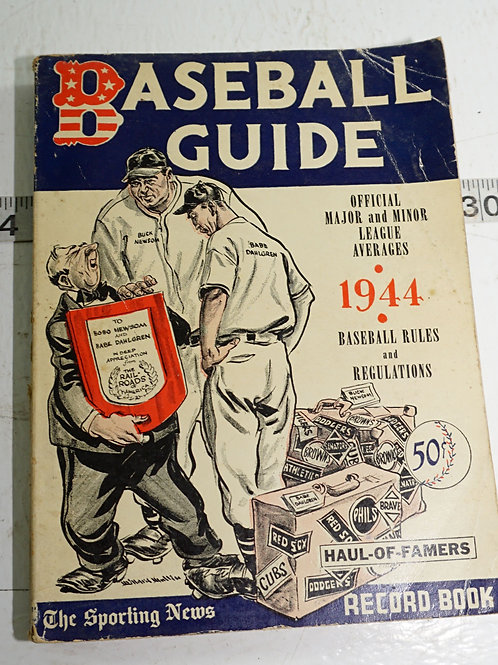 1944 Baseball Guide - Official Rules And Regulations