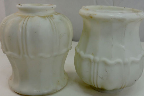 1920's Pair of Deco Milk Glass Shades