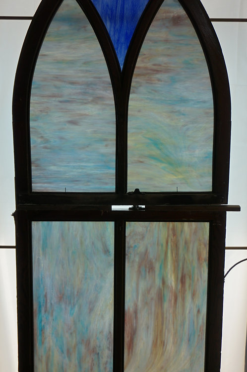 Cathedral Stained Glass Window Sash Early 1900s