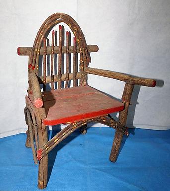 Handmade Primitive Willow Child Chair