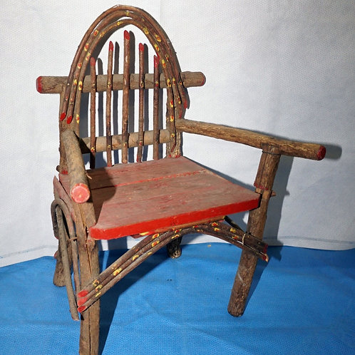 Handmade Primitive Willow Child Chair