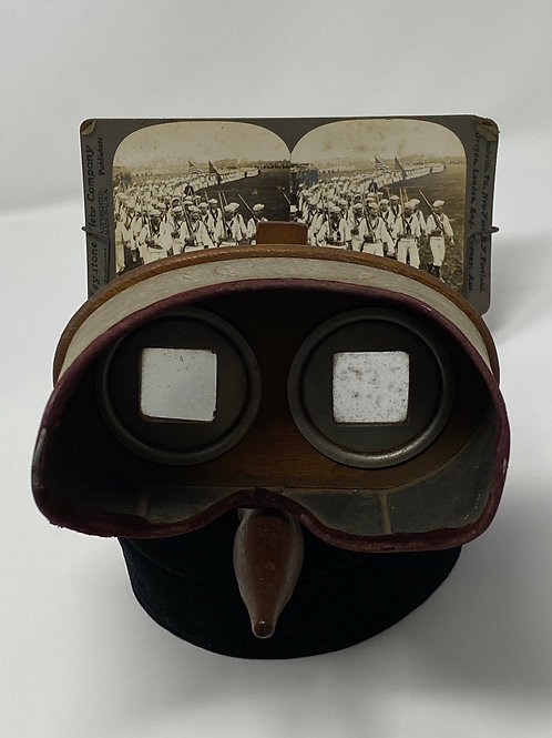 Stereoscope With Card Mfg By American Stereoscopic Co