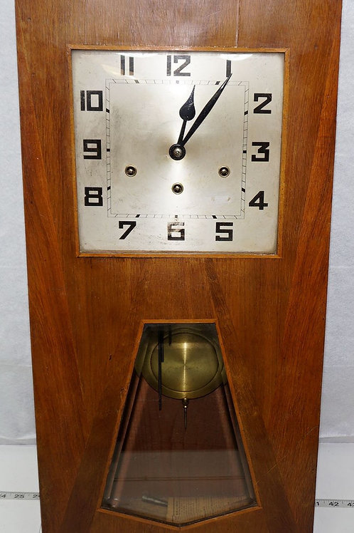 Arts and Crafts French Wall Clock W/ Westminster Chimes