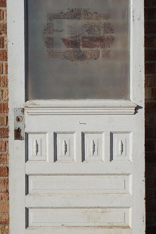 Victorian Door With Etched Glass Panel