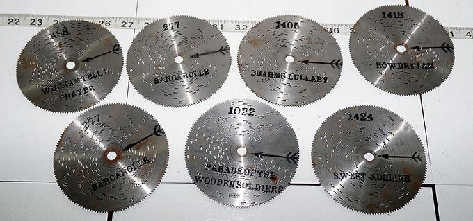 Thorens Music Box Discs (Set of 7)