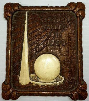 1939 New York World's Fair Plaque