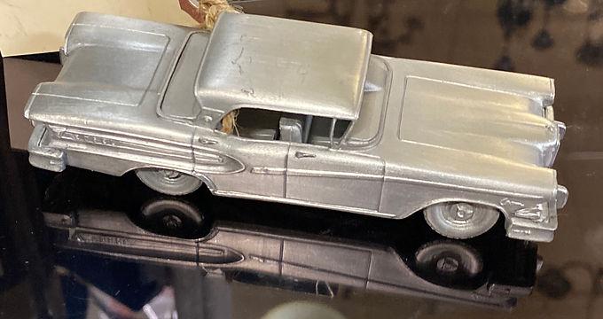 """1956 Edsel Citation"" Pewter Model Car Made in England"
