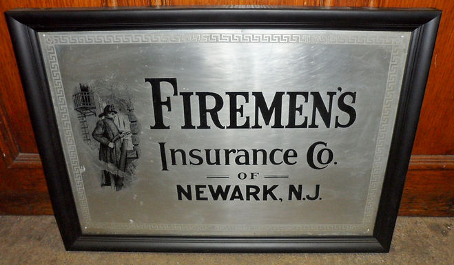"Sign ""Firemen's Insurance Co. of Newark NJ"""