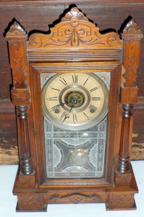 Walnut Kitchen Clock By Wm L Gilbert Clock Co