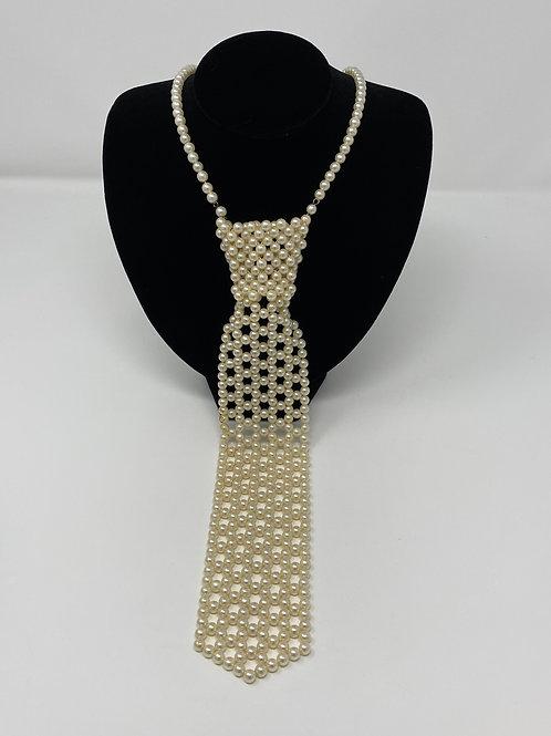 Vintage Beaded Necktie