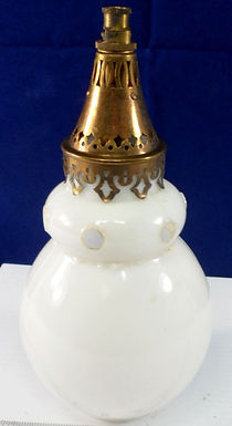 Gas Lamp Shades with Brass Fitter 1880's
