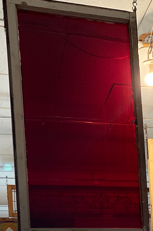 Stained Glass Window Ruby Red
