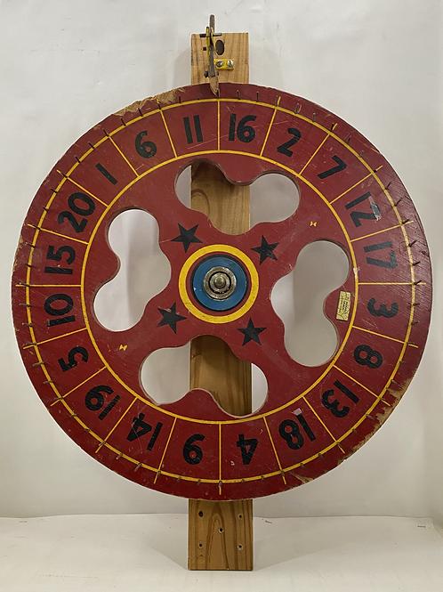 Vintage Carnival Wheel Used at Joyland Amusement Park