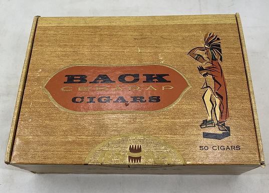 Back Cedar Cigar Box