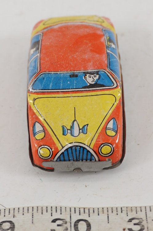 1950s Tin Litho Friction Car - Occupied Japan