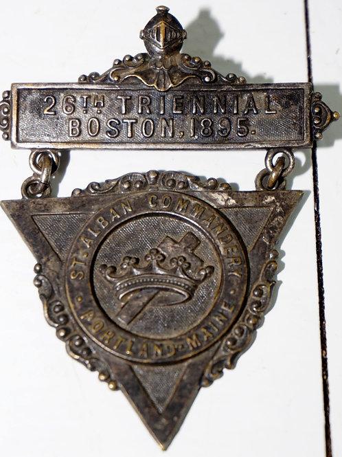 Triennial Boston 1895 Knights Templar-St Alban Commandery