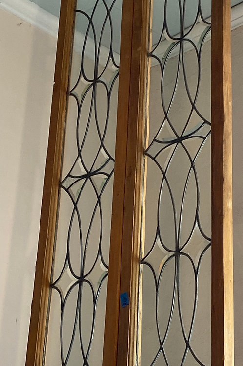 Stained Glass Window Pair