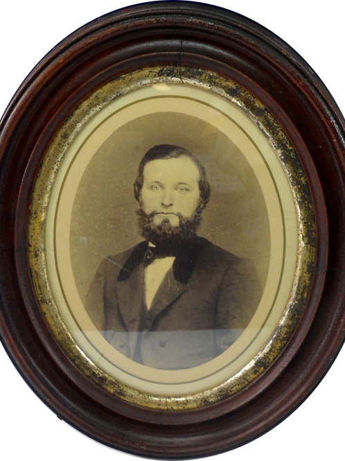 """Victorian Oval Photo """"Portrait of a Man"""""""