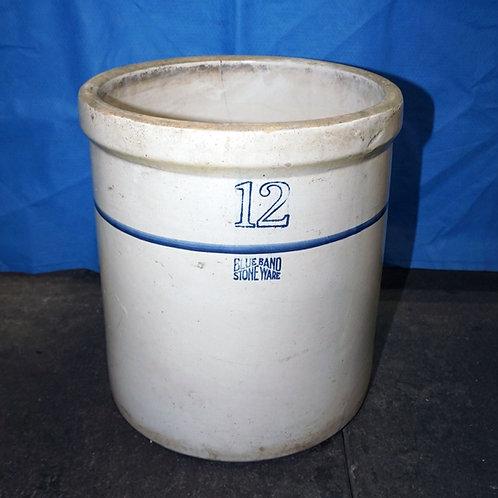 12 Gallon Blue Band   Crock