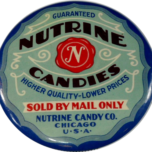"""Nutrine Candies"" Advertisement Pocket Mirror"