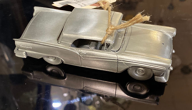 """""""1937 Ford Fairlane 500"""" Pewter Model Car Made in England"""