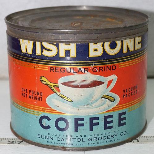 Wish Bone Coffee Tin