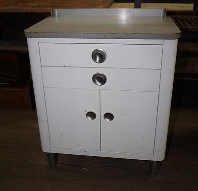 1940s Enamel Dental Cabinet - Deco Style