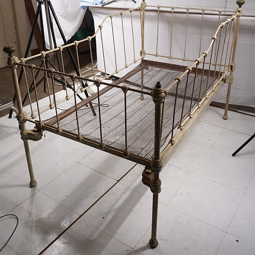 Early 1900s Cast Iron Childs Bed