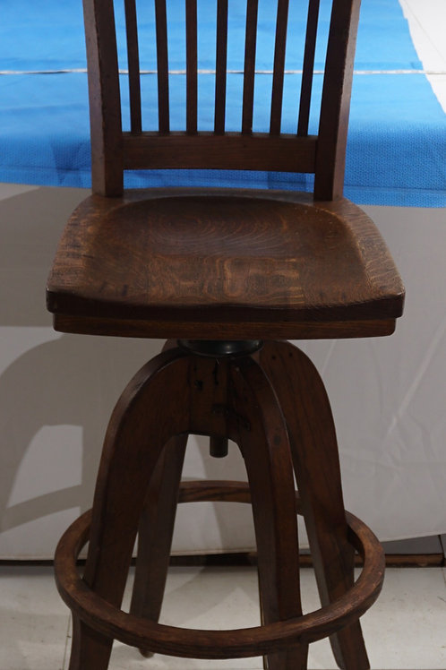 1940s Oak Telephone Stool
