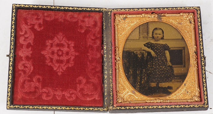 Framed Mid 1800s Daguerreotype Portrait