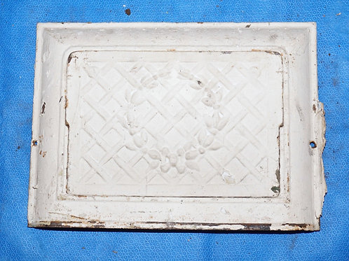 White Cast Iron Wall Register