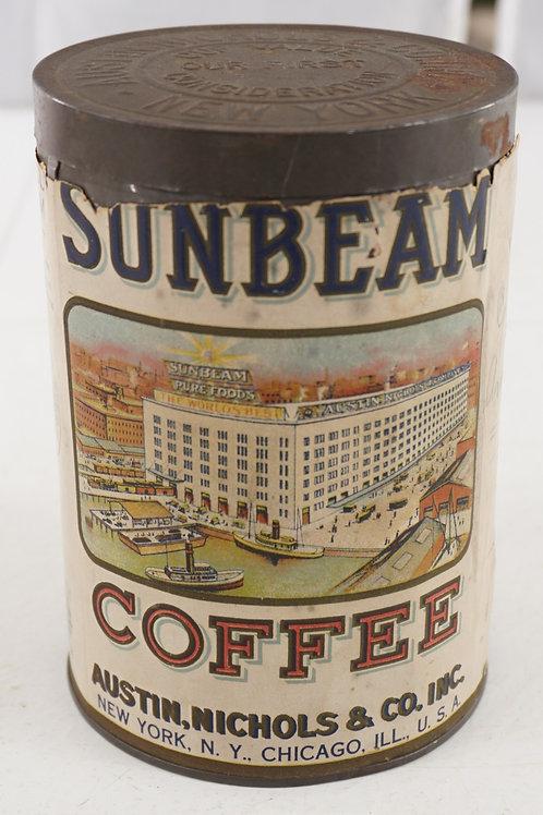 Sunbeam Coffee Tin By Austin, Nichols Co